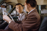 Businessmen Carpooling to Work Photographic Print by William P. Gottlieb