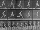 Figure in Different Running Positions Photographic Print by Eadweard Muybridge