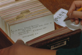 Using Library Card Catalog Photographic Print by William P. Gottlieb
