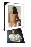 Salvador Dali: 'Galarina & Salvador Dali: Gala Set Poster by Salvador Dalí