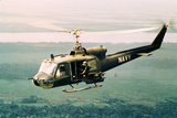 American Gunners Firing from Helicopter in Vietnam Photographic Print by V. McColley