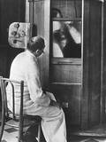 Doctor Using a Fluoroscope Photographic Print