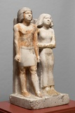 Egyptian Fifth Dynasty Statue of Kapuptah and His Wife Photographic Print