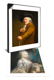 Marie-Antoinette de Lorraine-Habsbourg & Portrait of the Artist in the Guise of a Mockingbird Set Print by Joseph Ducreux