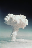 Mushroom Cloud Rising over Ocean Photographic Print