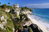 Mayan Ruins by the Sea Photographic Print by ML Sinibaldi