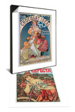 Poster Advertising 'Cycles Perfecta', 1902 & Poster Advertising 'Chocolat Ideal', 1897 Set Prints by Alphonse Marie Mucha