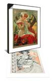 Plate 1 from 'Documents Decoratifs', 1902 & Sarah Bernhardt (1844-1923) Lefevre-Utile, 1903 Set Art by Alphonse Marie Mucha