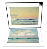 Sea Study - Morning (Oil on Panel) & Sea Study - Evening (Oil on Panel) Set Prints by Adrian Scott Stokes