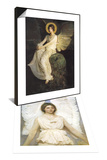 Angel, 1889 & Winged Figure Seated Upon a Rock, 1900 Set Prints by Abbott Handerson Thayer