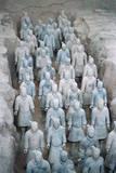 Terra Cotta Soldiers in Qin Shi Huangdi Tomb Fotografie-Druck