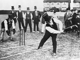 Man Playing Cricket Photographic Print