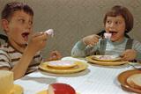 Children Eating Melting Ice Cream Photographic Print by William Gottlieb