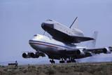 Space Shuttle Landing Photographic Print