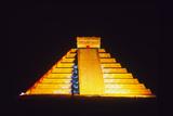 El Castillo Illuminated (Chichen Itza, Mexico) Photographic Print by Fridmar Damm