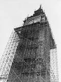 Big Ben in Scaffolding Photographic Print
