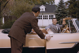 Businessman Dropping off Carpooler Photographic Print by William Gottlieb
