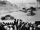 Cars Crashing in Race Photographic Print