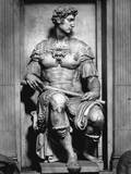 Detail of Giuliano De' Medici from the Tomb of Giuliano De' Medici by Michelangelo Buonarroti Photographic Print by Philip Gendreau