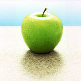 Green Granny Smith Apple Photographic Print by Michael Haegele