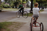 Boys Riding their Bike and Tricycle Photographic Print by William Gottlieb