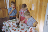 Children Eating Jelly Sandwiches Photographic Print by William P. Gottlieb