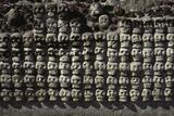 Wall of Skulls at Aztec Templo Mayor in Mexico Photographic Print by John Nakata