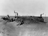 Farm Machinery Buried in Sand Photographic Print