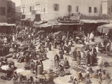 Busy Bazaar in Jaffa Photographic Print