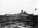 Japanese Battleship Yamato. Fotografiskt tryck