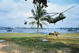 Helicopters Arriving to Evacuate Wounded Photographic Print by Kyoichi Sawada