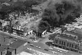 Burning Buildings in Detroit after Riots Photographic Print