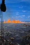 Oil Burning on the Waters Photographic Print by Oscar Sabetta