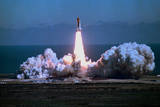 Space Shuttle Challenger Blasting off into Sky Photographic Print by Bill Mitchell