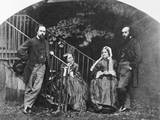 Painter Dante Gabriel Rossetti with His Family Photographic Print by Lewis Carroll