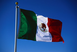 Flag of Mexico Photographic Print by Lawrence Manning