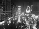 Rainy Night in times Square Reproduction photographique
