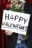 Man Holding Happy Valentine's Sign Photographic Print by Jason Stang