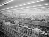 Interior View of Supermarket, 1955 Photographic Print by Philip Gendreau