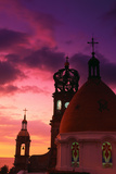Church of Guadalupe at Sunset Fotografisk tryk af Randy Faris