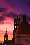 Church of Guadalupe at Sunset Fotografie-Druck von Randy Faris