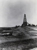 Early Oil Drilling Operation Photographic Print