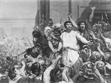 Painting of Barabbas with the Crowd Photographic Print by Philip Gould