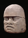 Olmec Colossal Head Photographic Print by Gianni Dagli Orti