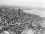 Aerial View of Seattle and Space Needle, 1962 Photographic Print