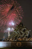 Fireworks Exploding over Memorial Photographic Print by  Mannino