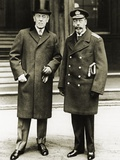 President Woodrow Wilson Posing with King George V Photographic Print