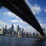 Manhattan Skyline from Brooklyn Bridge Photographic Print