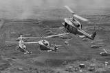 Helicopters Gathering Overhead Photographic Print