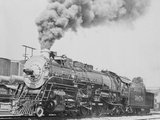 Santa Fe Railroad Steam Engine Photographic Print